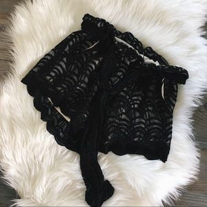 Stone Cold Fox Black Embroidered Shorts
